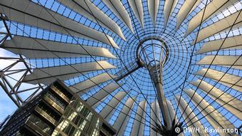 The glas roff of SONY Center at Potsdamer Platz
