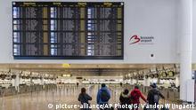 Belgien Generalstreik Flughafen in Brüssel