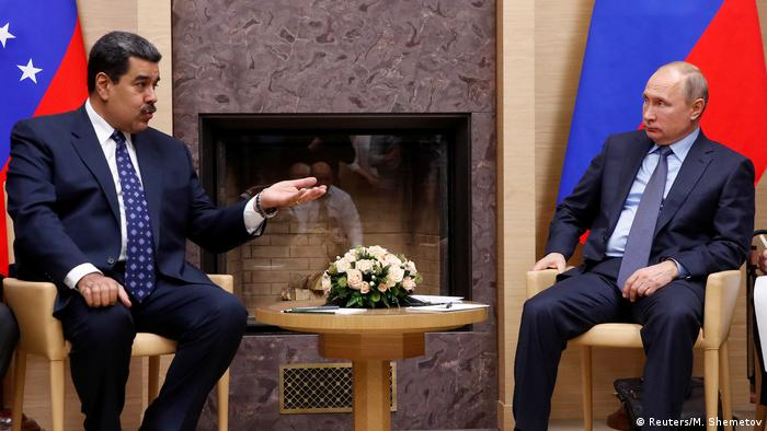 Президенты Венесуэлы и России Николас Мадуро и Владимир Путин, декабрь 2018 года