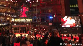 Lots of people on the red carpet at the Berlinale Palas