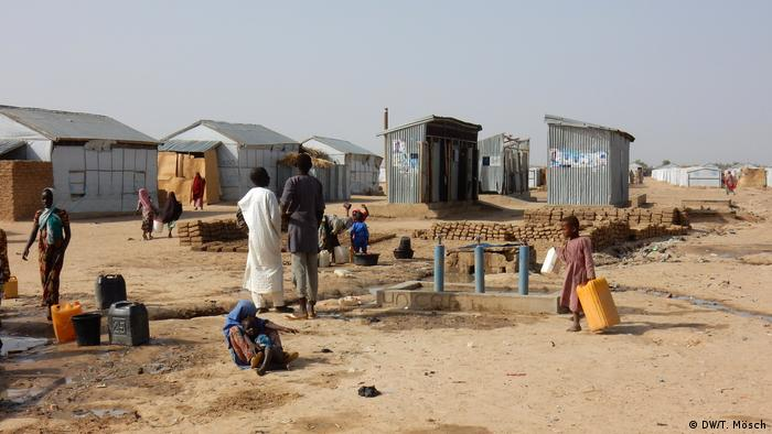 Flüchtlingslager Bakassi in Maiduguri, Nigeria (DW/T. Mösch)
