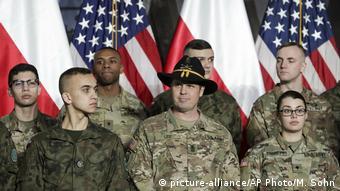 Polen Nahost-Konferenz | US- und polnische Soldaten