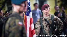 Polen gemeinsame Übung von US- und polnischen Soldaten