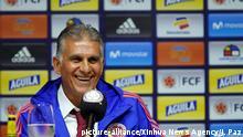 Kolumbien neuer Fußballtrainer Carlos Queiroz der Nationalmannschaft