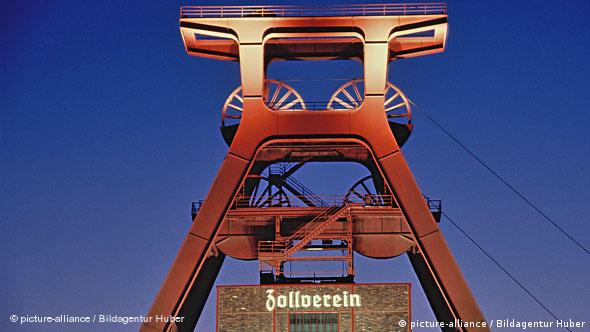 UNESCO Essen - Förderturm Zeche Zollverein Flash-Galerie