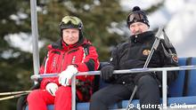 Vladimir Putin and Alexander Lukaschenko on a ski lift (Reuters/S. Chirikov)