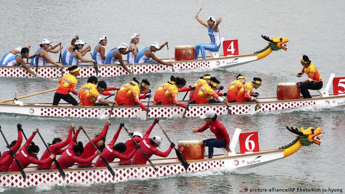 Indonesien Asiatische Spiele - Drachenboot