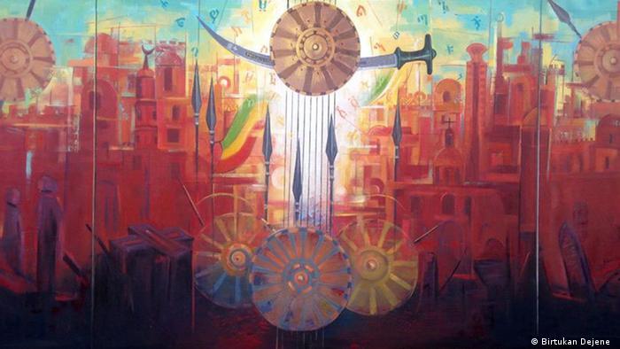 Äthiopien Kunstausstellung - Der Schlacht von Adua