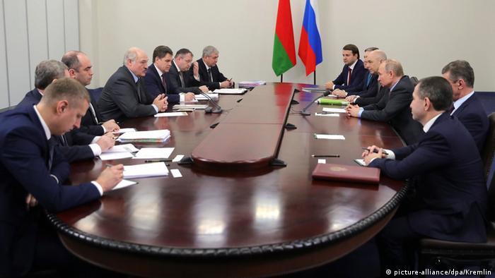 Russland Putin and Lukaschenko in Sotschi