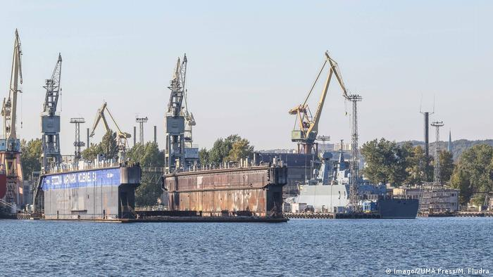 Picture of the shipyard in Gdynia, Poland