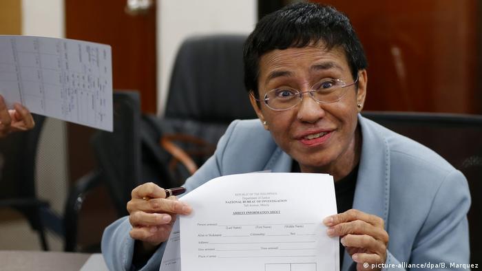 Philippinen Regierungskritische Journalistin Maria Ressa festgenommen