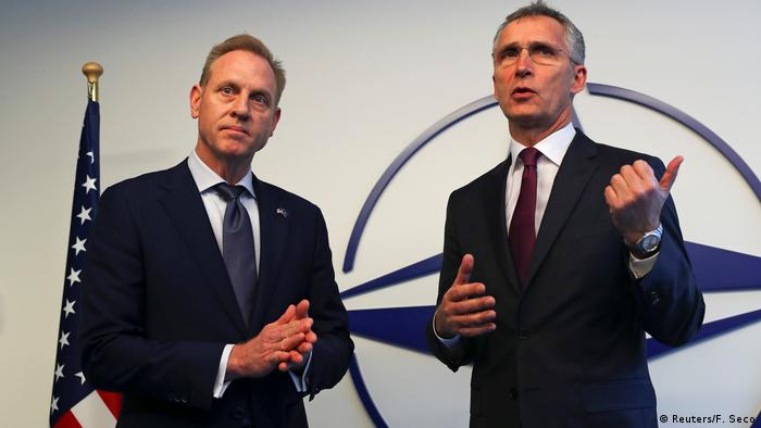 Patrick Shanahan and Jens Stoltenberg