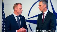 Belgien l Nato berät über Lösung nach INF-Vertrag - US Verteidigungsminsiter Shanahan und Nato Generalsekretär Stoltenberg