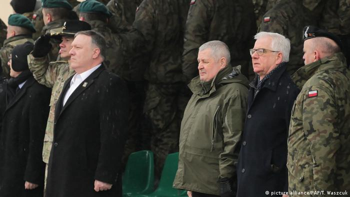 Mike Pompeo visits NATO troops in Poland
