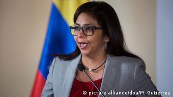 Venezuela - Vizepräsidentin Delcy Rodríguez (picture alliance/dpa/M. Gutierrez)