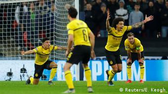 Fussball UEFA Champions League Achtelfinale – Tottenham vs BVB - Witsel und Sancho (Reuters/E. Keogh)