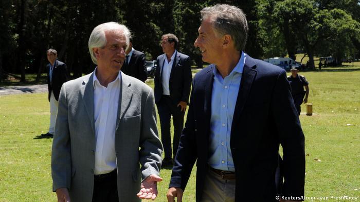 Uruguay Tabare Vazquez, Präsident & Mauricio Macri, Präsident Argentinien