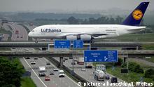 Lufthansa Airbus A380 in Leipzig/Halle