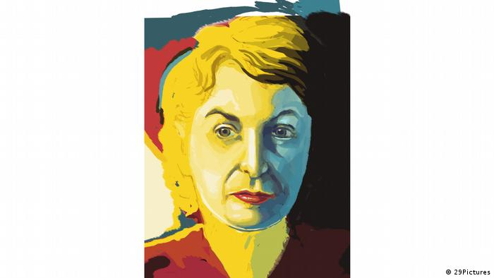 Film still 'What She Said: The Art of Pauline Kael' - an oil painting depicting Pauline Kael