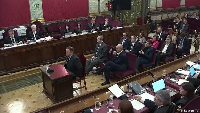 Spanien Prozess gegen katalanische Separatistenführer in Madrid