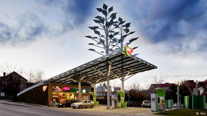Tankstelle der ungarischen Firma MOL