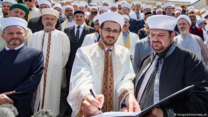 Österreich Imame unterzeichnen eine Deklaration gegen Extremismus (Imago/photonews.at)