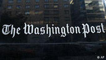 USA Presse Washington Post Hauptquartier Logo