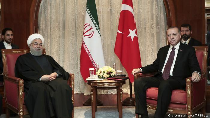 Russland Iran Türkei Erdogan Rohani Sotschi (picture-alliance/AP Photo)
