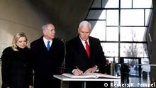 Polen Warschau - Jüdisches Museum mit Mike Pence und Benjamin Netanyahu