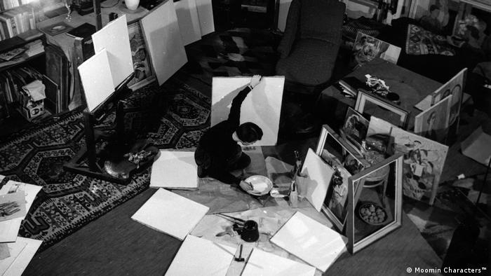 Jansson at work in her studio (Moomin Characters™)