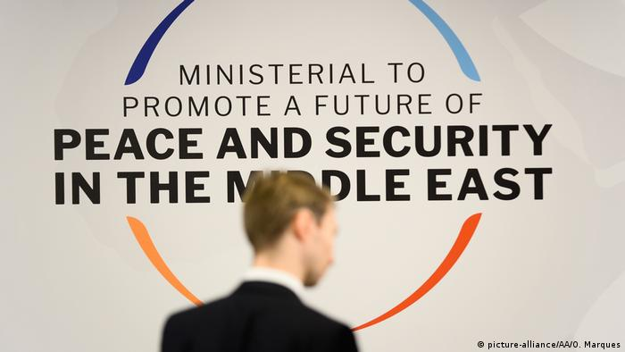 Logo for 'Ministerial to promote a future of peace and security in the Middle East' conference