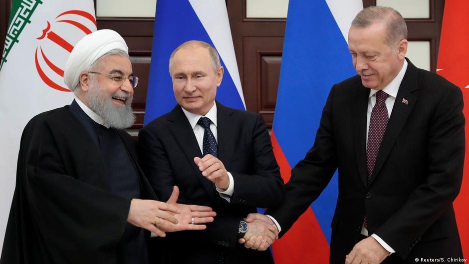 Erdogani  Putini dhe Rohani diskutojnë për konfliktin në Siri