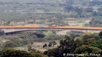 Blockierte Grenze zwischen Venezuela und Kolumbien