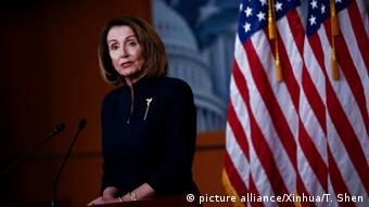 USA Haushalt l Kongress billigt Haushaltskompromiss - Nancy Pelosi (picture alliance/Xinhua/T. Shen)