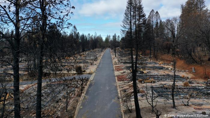 Kalifornien Paradise nach dem Camp Wildfire