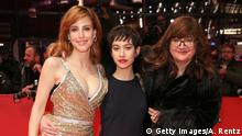 BERLIN, GERMANY - FEBRUARY 13: (L-R) Natalia de Molina, Greta Fernandez and Director Isabel Coixet attend the Elisa Y Marcela (Elisa und Marcela) premiere during the 69th Berlinale International Film Festival Berlin at Berlinale Palace on February 13, 2019 in Berlin, Germany. (Photo by Andreas Rentz/Getty Images for Netflix)