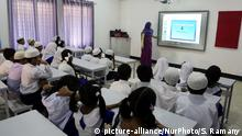 A digital classroom in Dhaka before Bangladesh went into lockdown