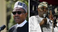 Kombobild Muhammadu Buhari und Atiku Abubakar