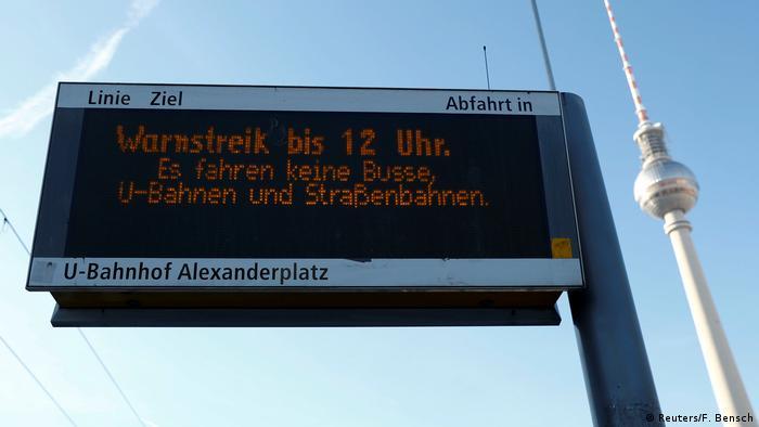 Jest to już trzeci strajk ostrzegawczy związkowców z BVG w tym roku
