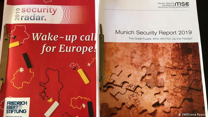 Cover Security Radar 2019 und Munich Security Report (DW/Dijana Roscic)