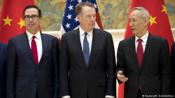 China Peking Handelsgespräche USA China (Reuters/M. Schiefelbein)