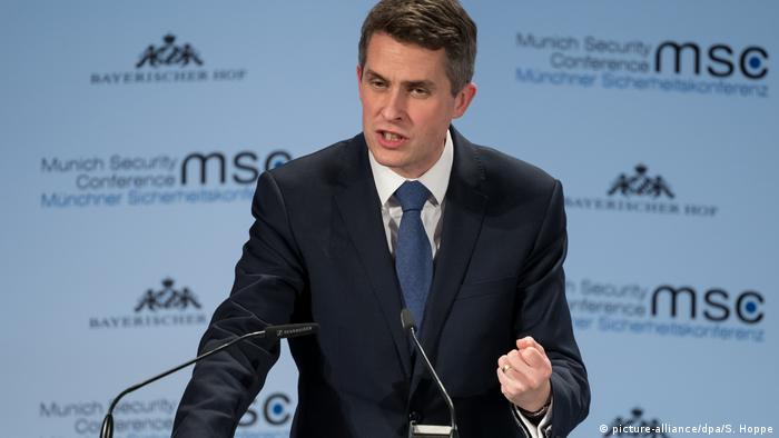 Ministro de Defensa británico, Gavin Williamson.
