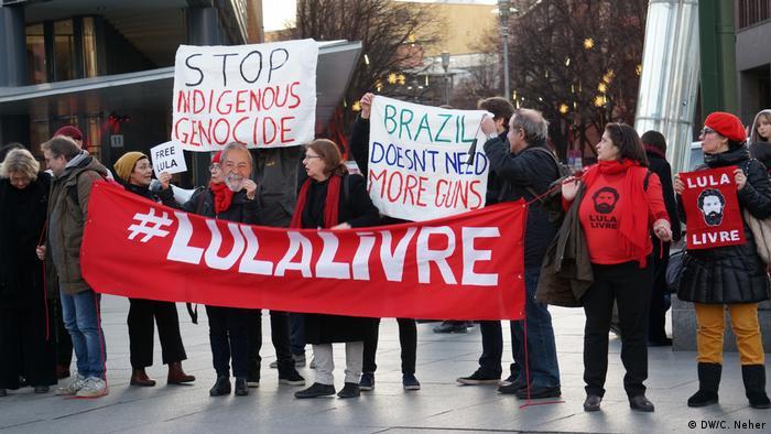 Protesto brasileiro em Berlim