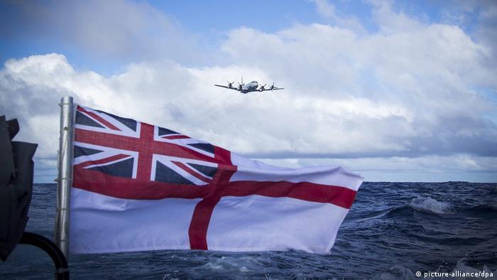 A British Royal Navy flag