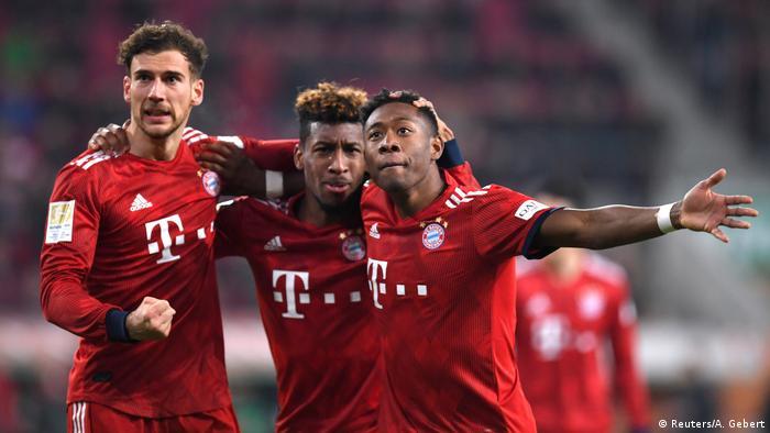 Fußball Bundesliga FC Bayern - FC Augsburg 3:2 - David Alaba Jubel