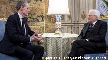 Italien - Frankreichs Botschafter nach Streit mit Italien nach Rom zurückgekehrt - Mattarella und Masset