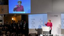 German Chancellor Angela Merkel speaks during Munich Security Conference in Munich, Germany February 16, 2019. REUTERS/Andreas Gebert