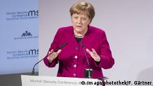 Chancellor Angela Merkel spoke freely and without a script