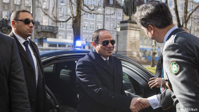 55. Münchner Sicherheitskonferenz - Abdel Fatah al-Sisi beim Hotel Bayerischer Hof (MSC/Balk)