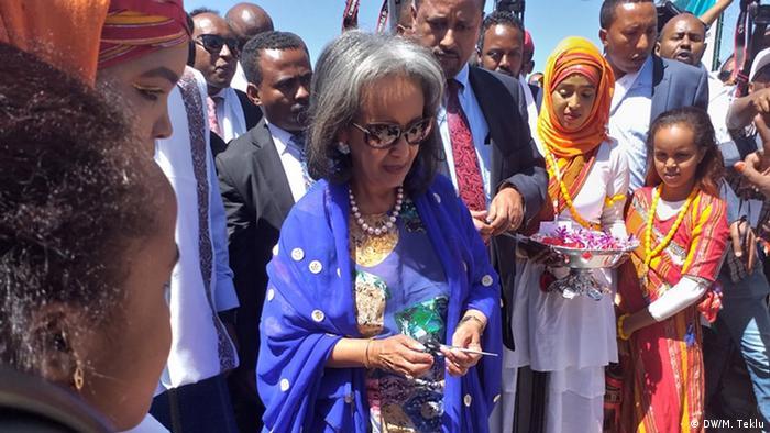 Jijiga - Feier zu 4th Ethiopian Cities Forum: Präsidentin Sahle-Work Zewde